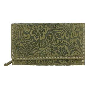 Dámská kožená peněženka zelená – Tomas Imbali zelená