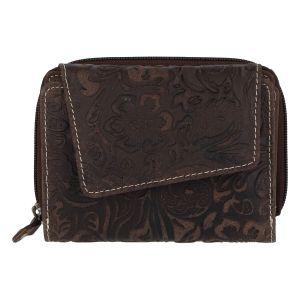 Dámská kožená peněženka tmavě hnědá – Tomas Pierluigi hnědá