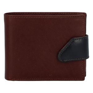 Hladká pánská hnědá kožená peněženka – Tomas 76VT hnědá