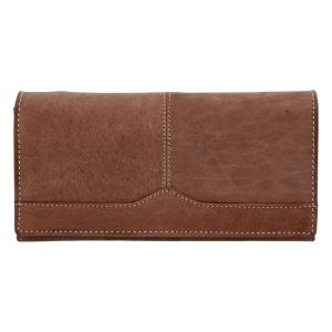 Dámská kožená peněženka hnědá broušená – Tomas Slat hnědá