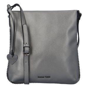 Dámská módní crossbody kabelka stříbrná – Marco Tozzi Coco stříbrná