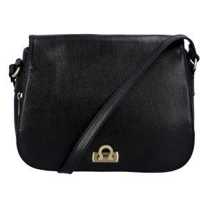 Luxusní dámská kožená kabelka černá – Hexagona Francesca černá