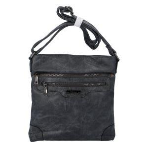 Dámská crossbody kabelka antracitově šedá – Romina Hana šedá