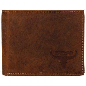 Pánská kožená peněženka Wild Buffalo Radim – světle hnědá