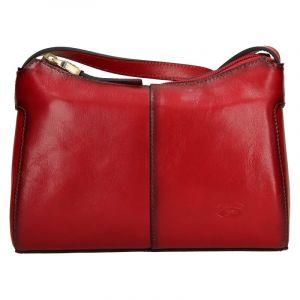 Kožená dámská crosbody kabelka Katana Mauric – červená