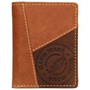 Pánská kožená peněženka Lagen Thore – koňak