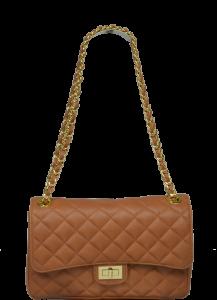 Kožená kabelka Eliana Camel