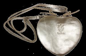 Kožená kabelka Cuore Lucido Argento