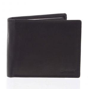 Praktická pánská volná černá peněženka – Diviley Unibertsoa černá