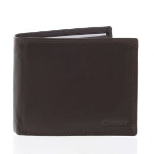Praktická pánská volná hnědá peněženka – Diviley Unibertsoa hnědá