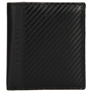 Pánská kožená peněženka Bugatti Leonis – černá