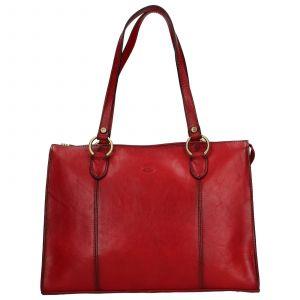Elegantní dámská kožená kabelka Katana Jarusk – tmavě červená