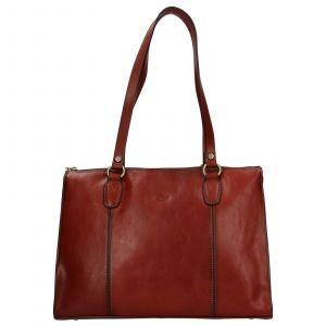 Elegantní dámská kožená kabelka Katana Jarusk – hnědá