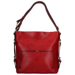 Elegantní dámská kožená kabelka Katana Darina – červená