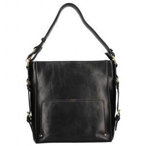 Elegantní dámská kožená kabelka Katana Darina – černá