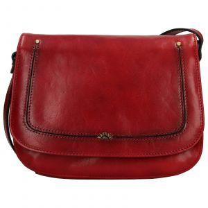 Kožená dámská crosbody kabelka Katana Zorra – tmavě červená