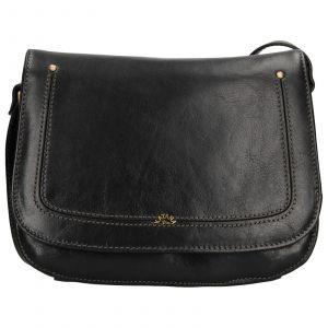 Kožená dámská crosbody kabelka Katana Zorra – černá