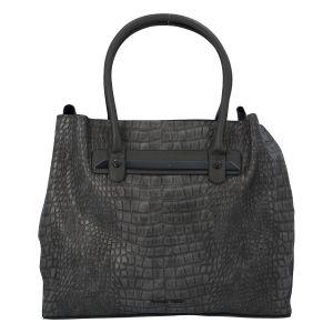 Dámská módní kroko kabelka šedá – Marco Tozzi Skuba šedá