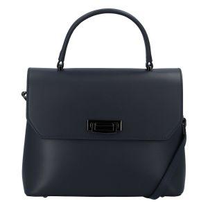Originální hladká modrá dámská kabelka do ruky – ItalY Neolila tmavě modrá