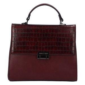 Luxusní dámská módní kabelka bordo – Marco Tozzi Clas vínová