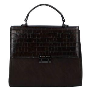 Luxusní dámská módní kabelka kávově hnědá – Marco Tozzi Clas coffee