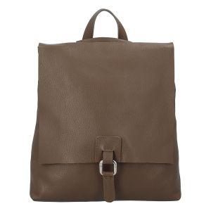 Dámský kožený batůžek kabelka khaki – ItalY Francesco Khaki