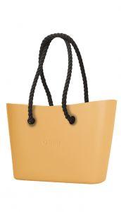 O bag kabelka Urban Caramello s černými dlouhými provazy
