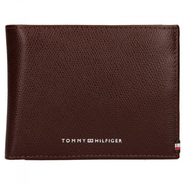 Pánská kožená peněženka Tommy Hilfiger Devon – hnědá