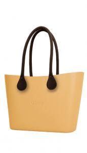 Oasis kabelka Urban Caramello s hnědými dlouhými koženkovými držadly