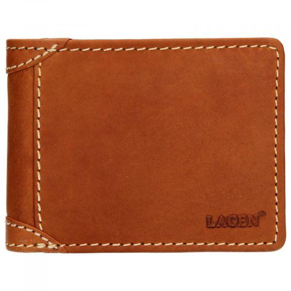 Pánská kožená peněženka Lagen Peter – koňak