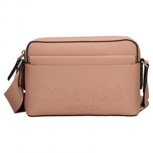Dámská crossbody kabelka Calvin Klein Apolenas – růžová