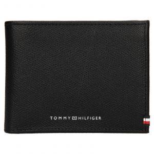 Pánská kožená peněženka Tommy Hilfiger Geonet – černá