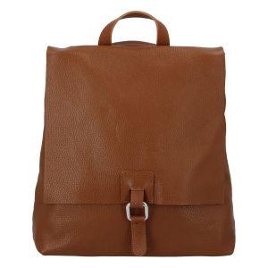 Dámský kožený batůžek kabelka hnědý – ItalY Francesco hnědá