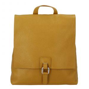 Dámský kožený batůžek kabelka žlutý – ItalY Francesco žlutá