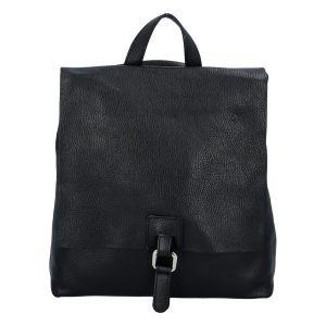 Dámský kožený batůžek kabelka černý – ItalY Francesco černá
