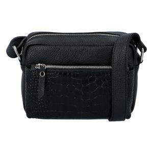 Dámská kožená crossbody kabelka černá – ItalY Kruba černá