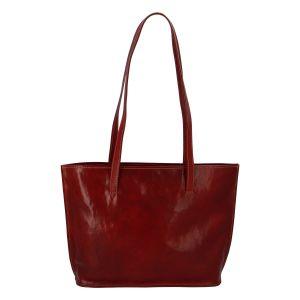 Módní dámská kožená kabelka červená – ItalY Karola červená