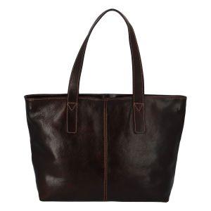 Módní dámská kožená kabelka hnědá – ItalY Rich hnědá