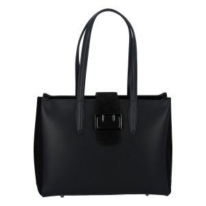 Dámská kožená kabelka přes rameno černá – ItalY Driada černá