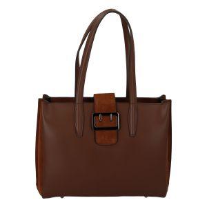 Dámská kožená kabelka přes rameno hnědá – ItalY Driada hnědá