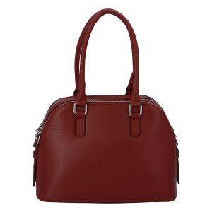 Módní dámská kožená kabelka červená – ItalY Salva červená