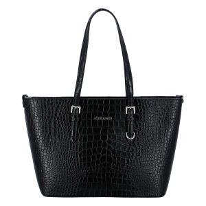 Dámská kabelka přes rameno černá – FLORA&CO Dianna Kroko černá