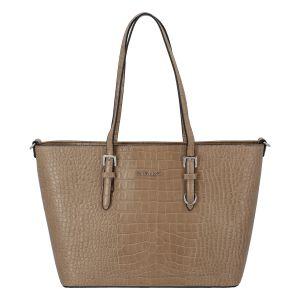 Dámská kabelka přes rameno taupe – FLORA&CO Dianna Kroko taupe