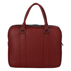 Dámská kožená kabelka aktovka červená – ItalY Dresden červená