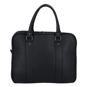Dámská kožená kabelka aktovka černá – ItalY Dresden černá