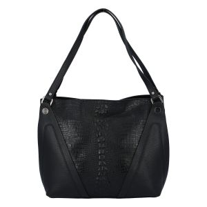 Dámská kožená kabelka černá – ItalY Sofia černá