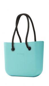 O bag MINI kabelka Tiffany s černými dlouhými provazy