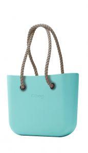 O bag kabelka MINI Tiffany s dlouhými provazy natural