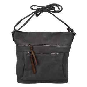 Dámská crossbody kabelka tmavě šedá – Paolo Bags Skule šedá
