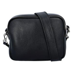 Kožená crossbody kabelka černá – ItalY Quadro černá